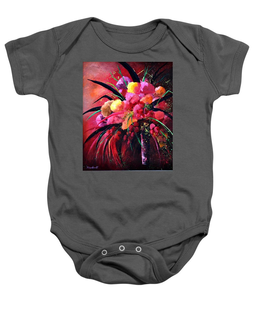 Flowers Baby Onesie featuring the painting Still Life 0101 by Pol Ledent