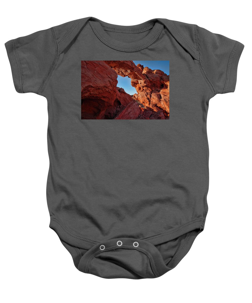 Nevada Baby Onesie featuring the photograph Stone Arch by Rick Berk