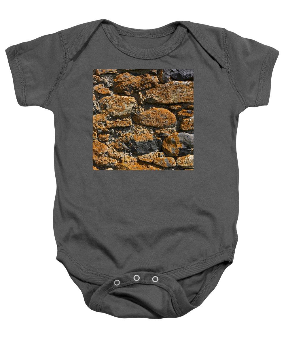 Walls Baby Onesie featuring the photograph Stone Wall by Bernard Jaubert