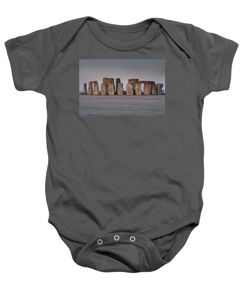Wiltshire Baby Onesie featuring the photograph Stonehenge Wiltshire by Axiom Photographic