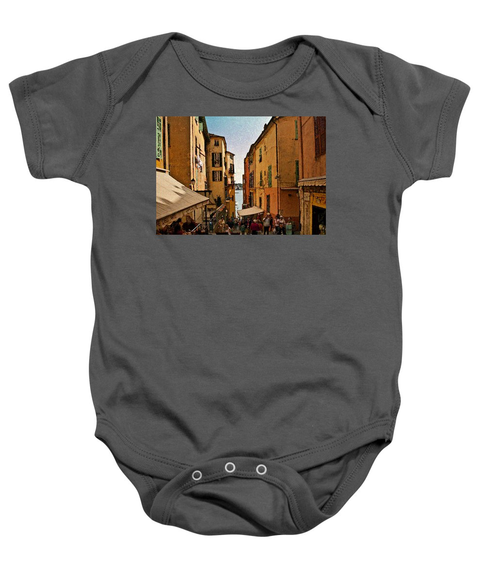 Villefranche Baby Onesie featuring the photograph Street In Villefranche II by Steven Sparks