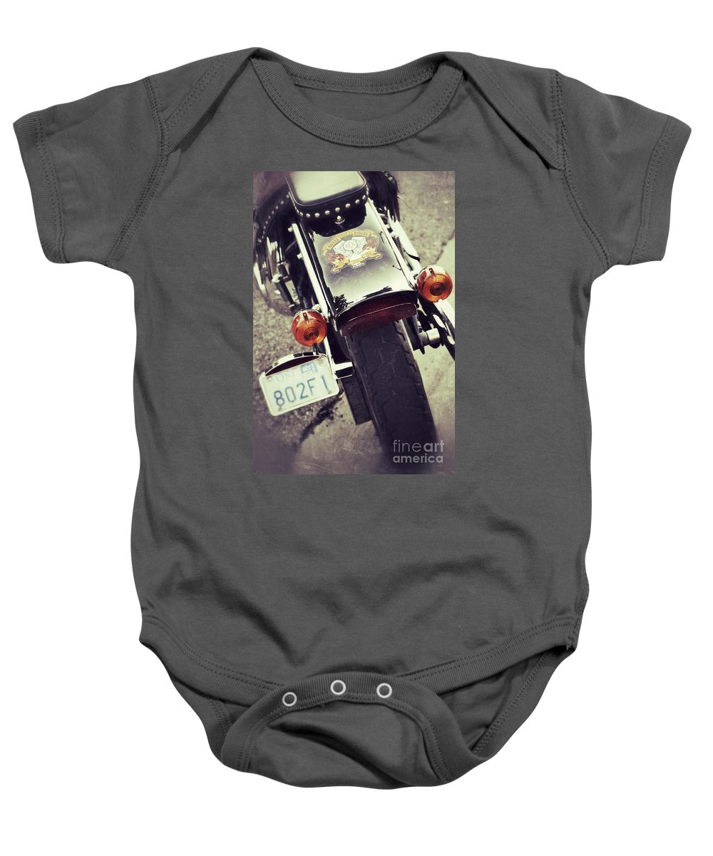 Motorcycle Baby Onesie featuring the photograph Summer Fever by Traci Cottingham
