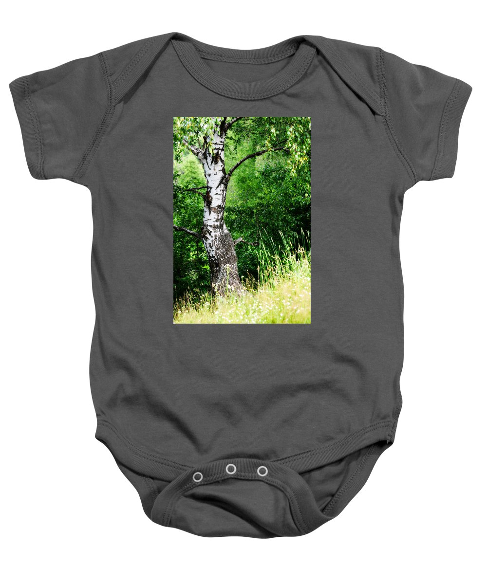 Tree Baby Onesie featuring the photograph Summer Memory by Jenny Rainbow