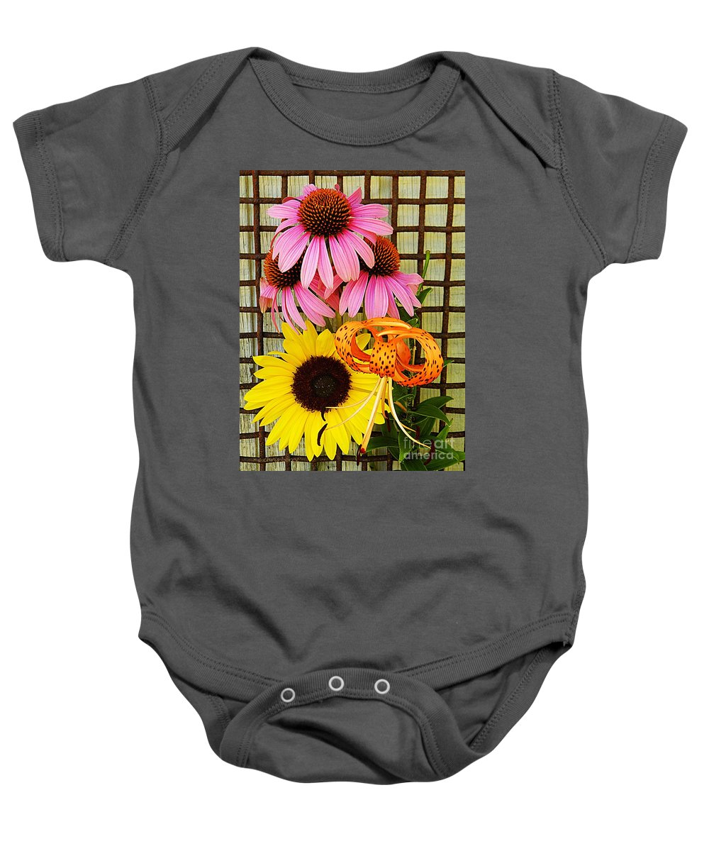 Nature Baby Onesie featuring the photograph Summer Trio by Chris Berry