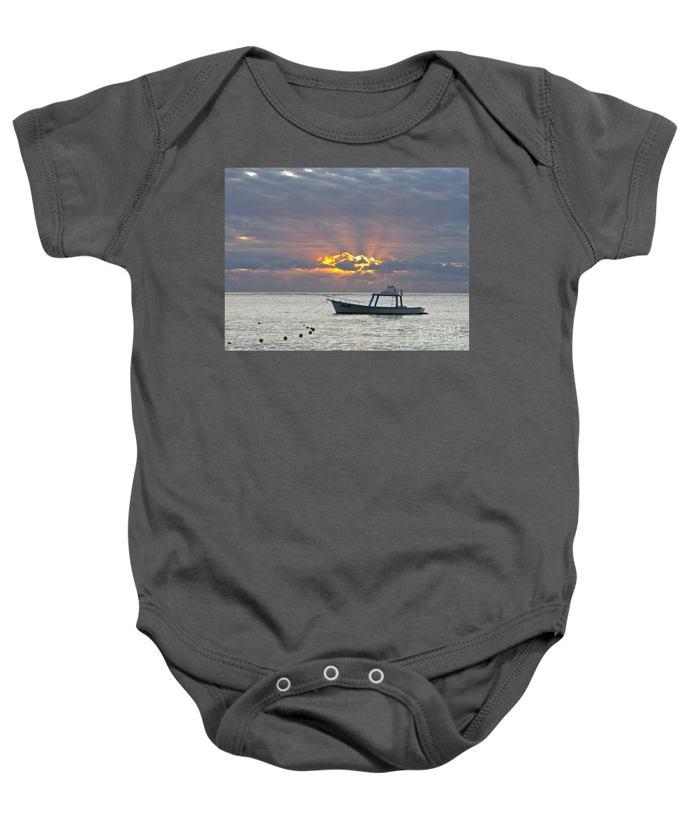 Photography Baby Onesie featuring the photograph Sunrise - Puerto Morelos by Sean Griffin