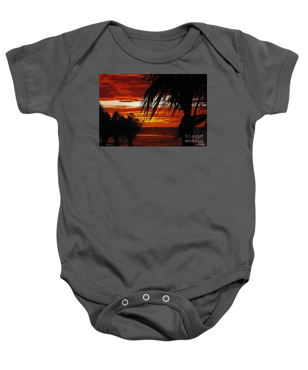 Nature Baby Onesie featuring the photograph Sunset In Cancun by Rebecca Morgan