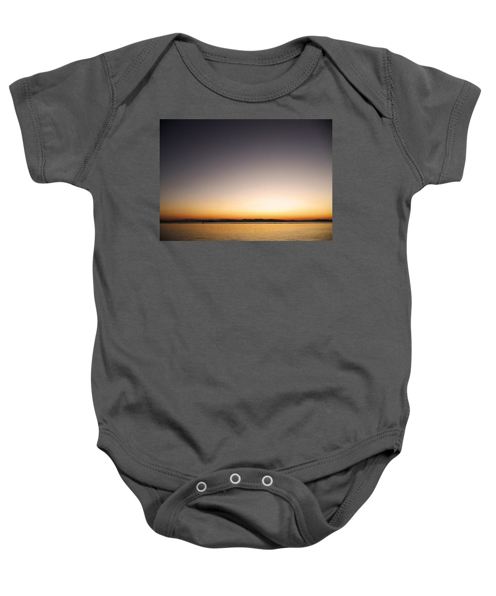 North America Baby Onesie featuring the photograph Sunset Over Lake Champlain - Vermont by Juergen Weiss