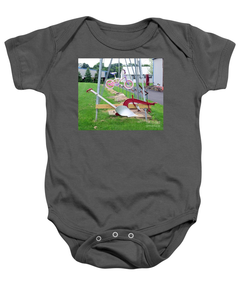Syracuse Chilled Plow Co. Baby Onesie featuring the photograph Syracuse Chilled Plow Co. by Paul Ward