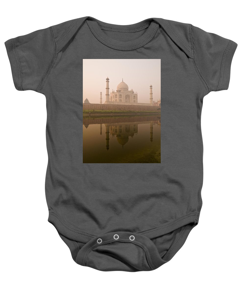 Architectural Baby Onesie featuring the photograph Taj Mahal, Agra, India by Keith Levit