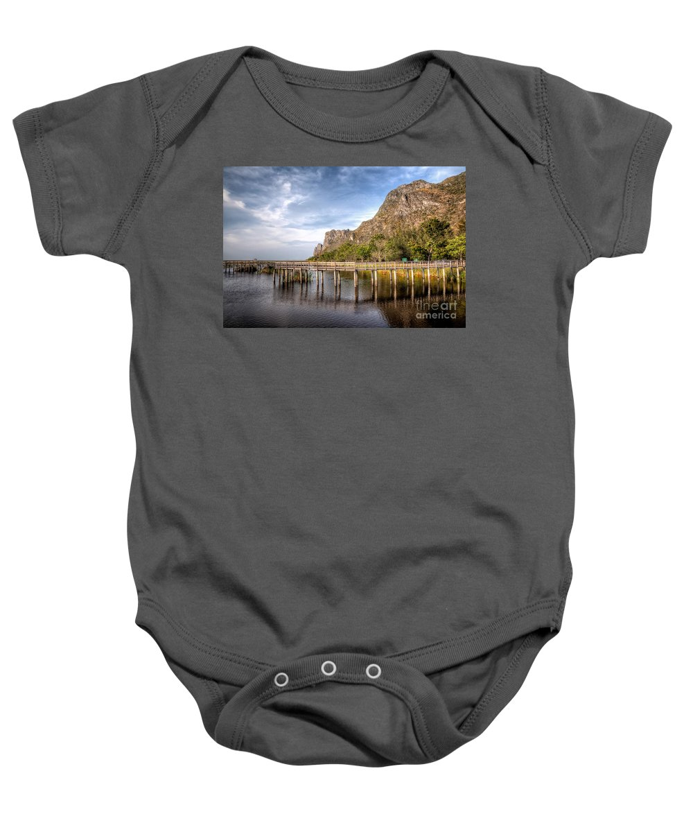 Asia Baby Onesie featuring the photograph Thai Park by Adrian Evans