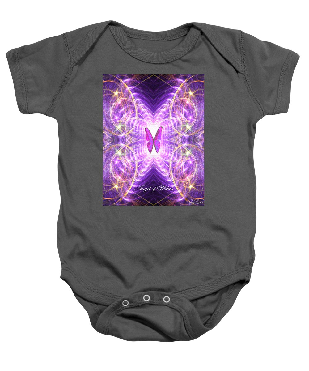 Angel Baby Onesie featuring the digital art The Angel Of Wishes by Diana Haronis