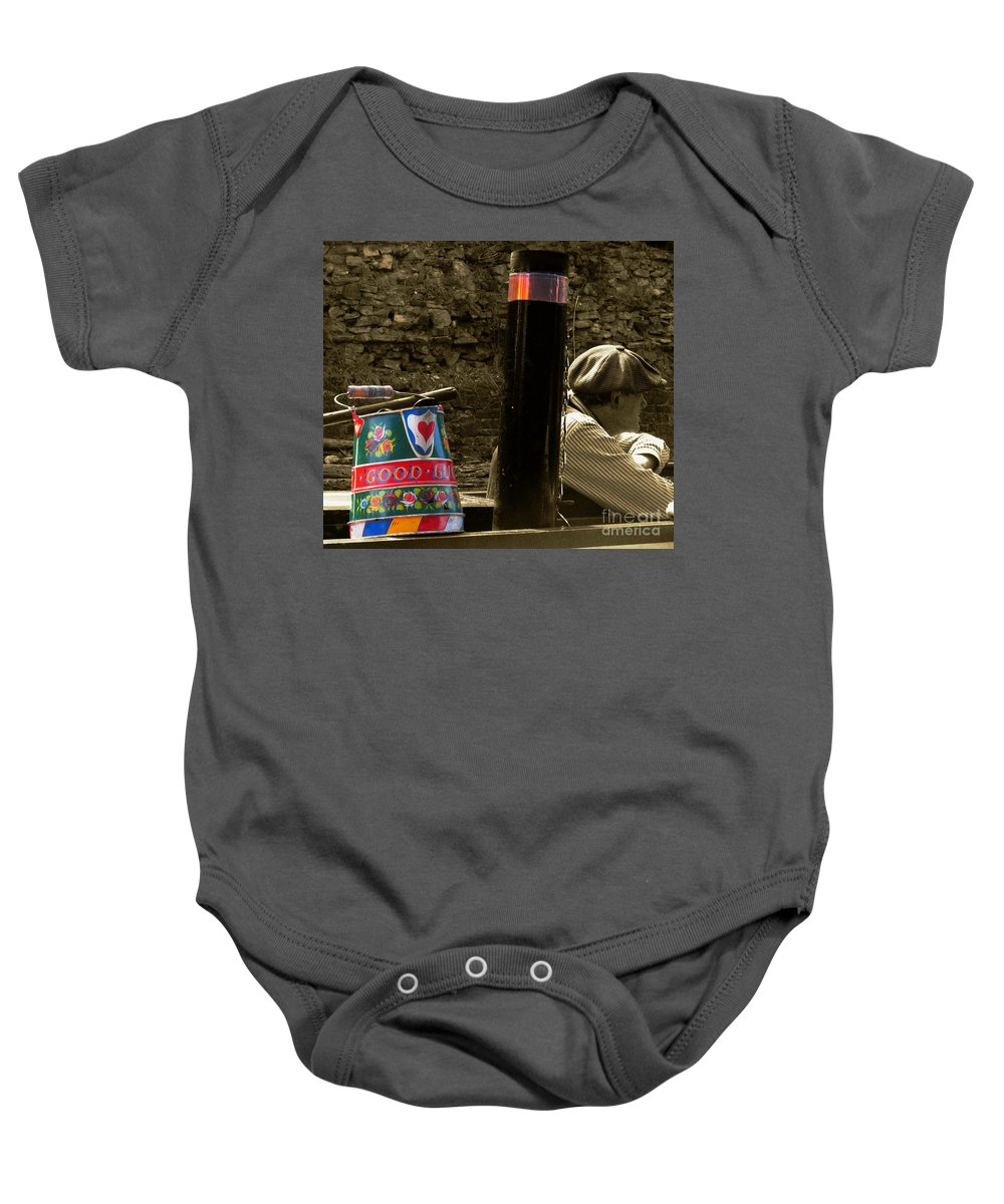 Barge Baby Onesie featuring the photograph The Bargee by Rob Hawkins