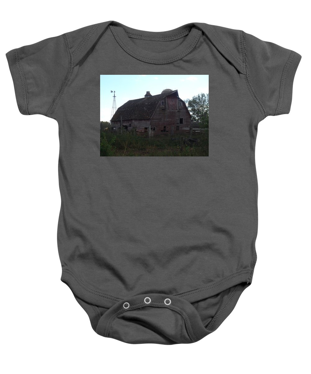 Barn Baby Onesie featuring the photograph The Barn IIi by Bonfire Photography