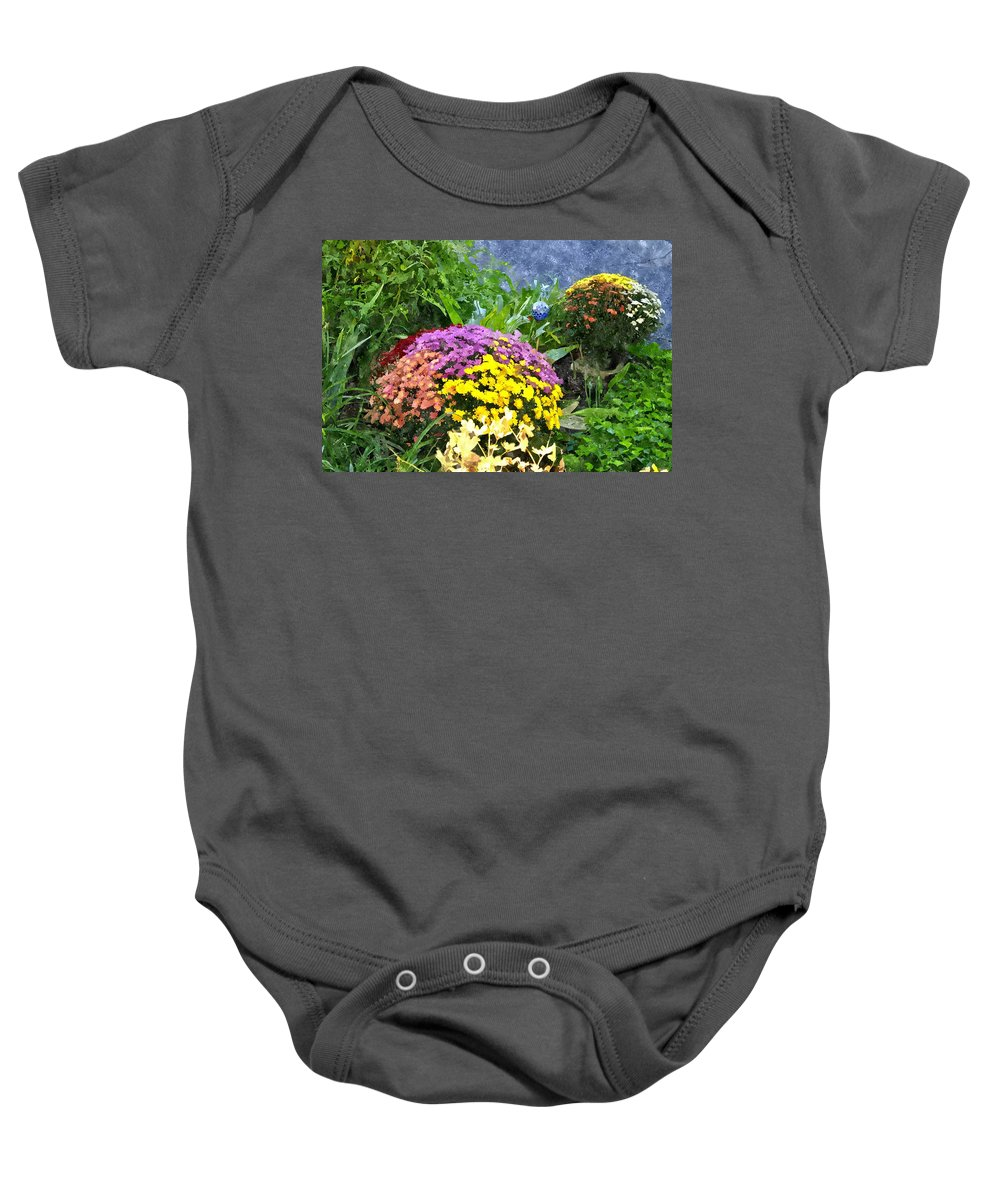 Flowers Baby Onesie featuring the digital art The Beauty Of Fall Bofwc by Jim Brage