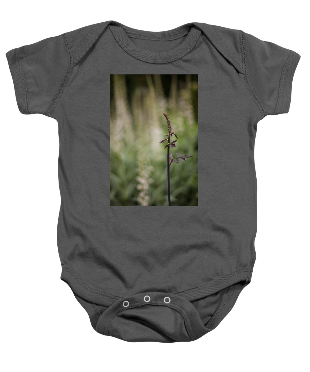 Flower Baby Onesie featuring the photograph The Branch by Mike Reid