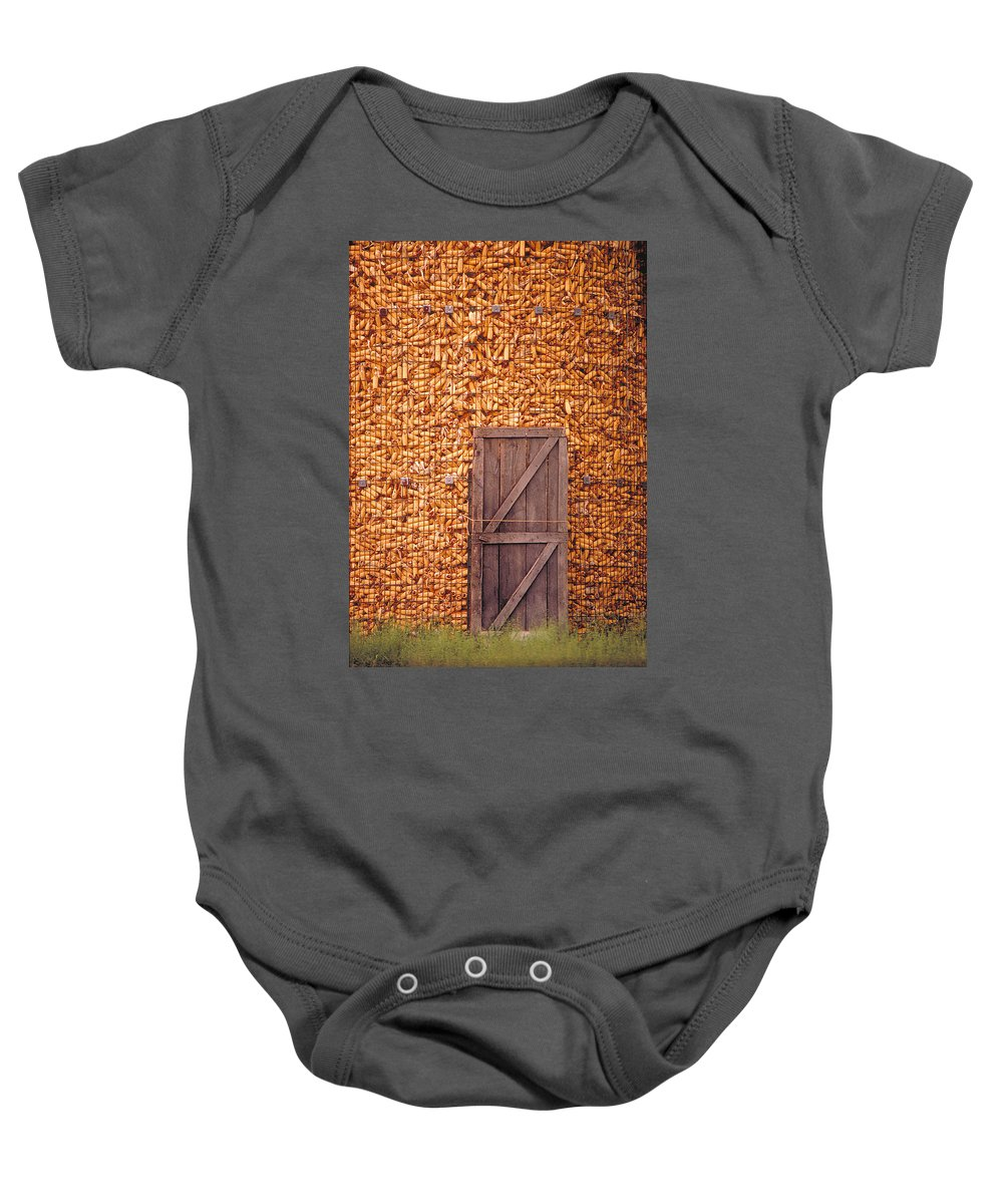 Corn Baby Onesie featuring the photograph The Corn Crib by Garry McMichael