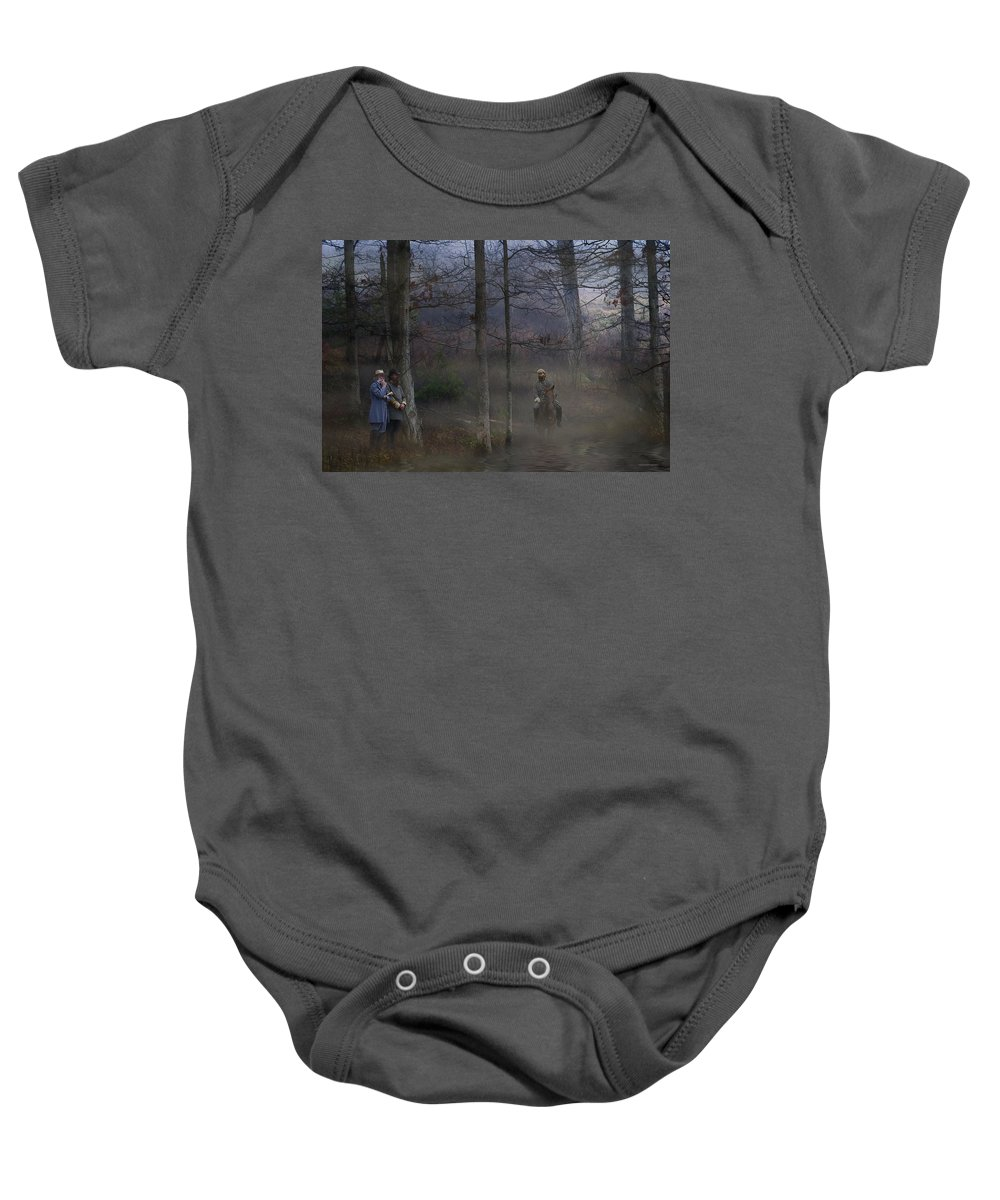 Ron Jones Baby Onesie featuring the photograph The Crossing by Ron Jones