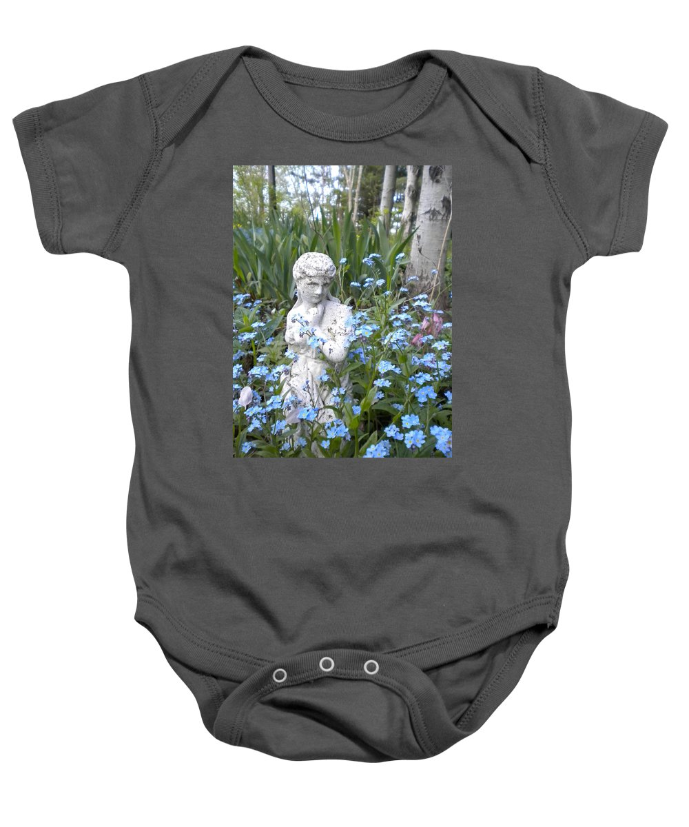 Statuary Baby Onesie featuring the painting The Garden Of Eden by Renate Nadi Wesley