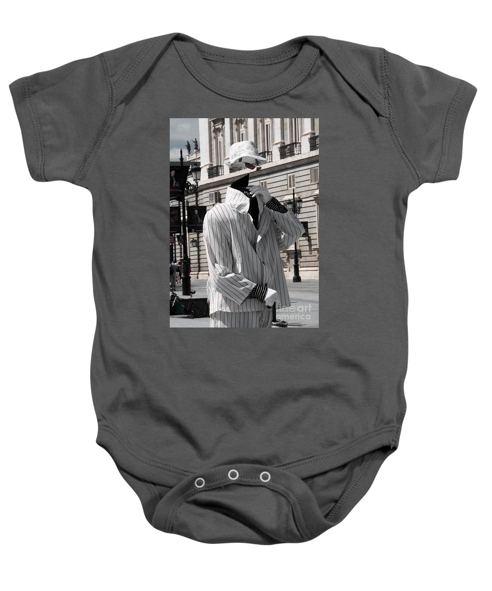 Invisible Baby Onesie featuring the photograph The Invisible Man by Rob Hawkins