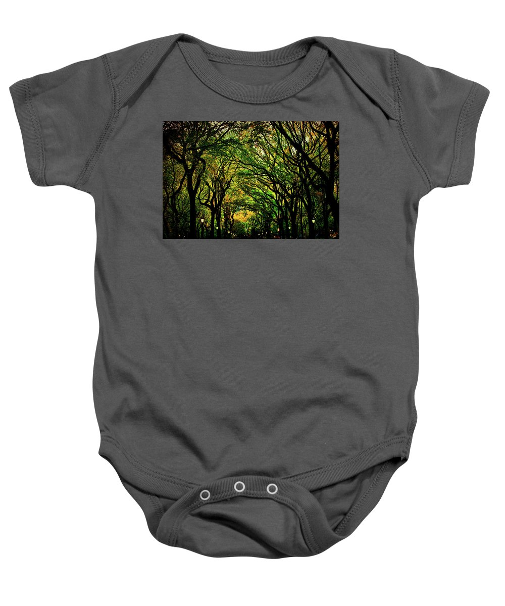 Autumn Baby Onesie featuring the photograph The Mall In Fall by Chris Lord