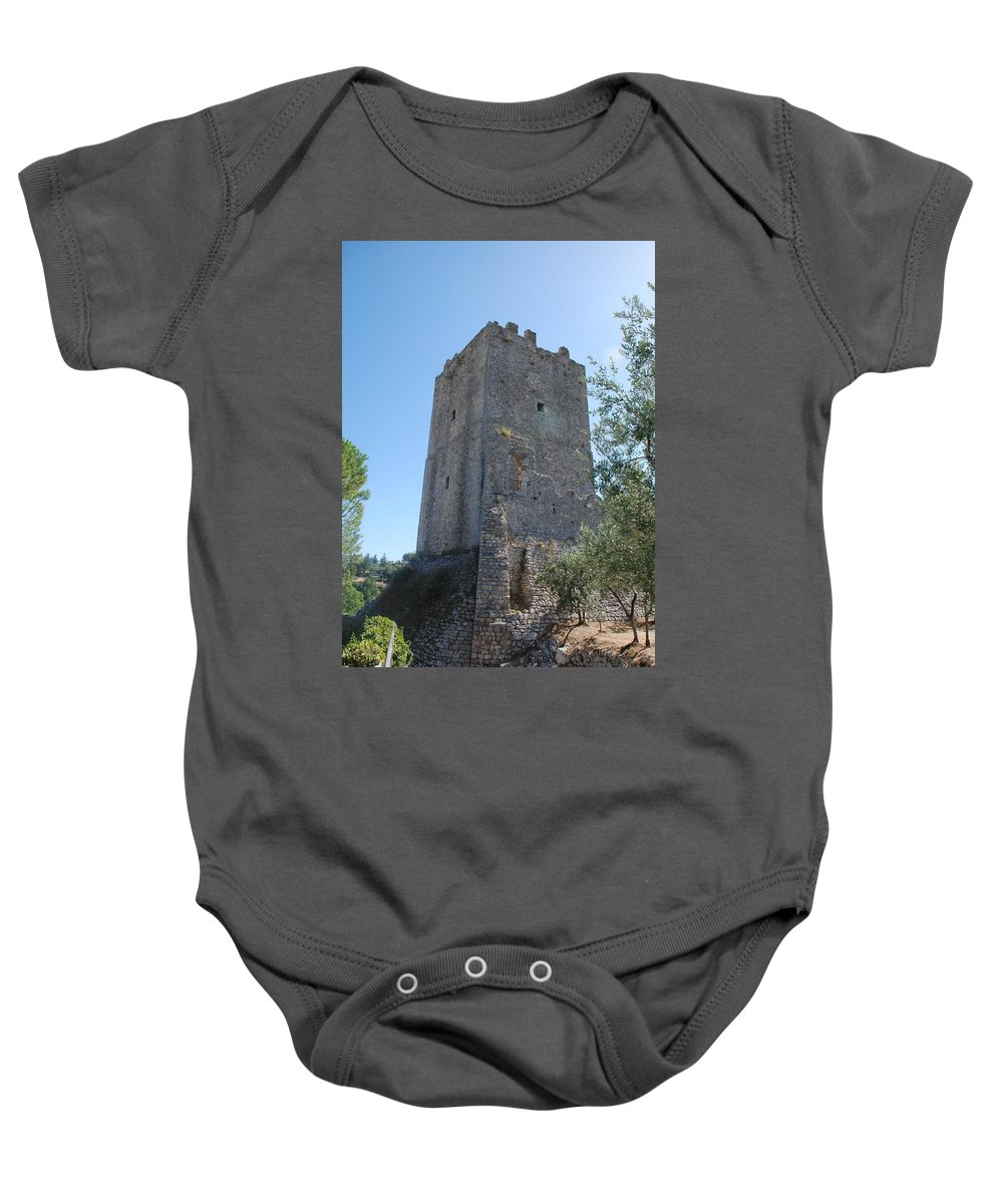Tower Baby Onesie featuring the photograph The Medieval Tower by Dany Lison