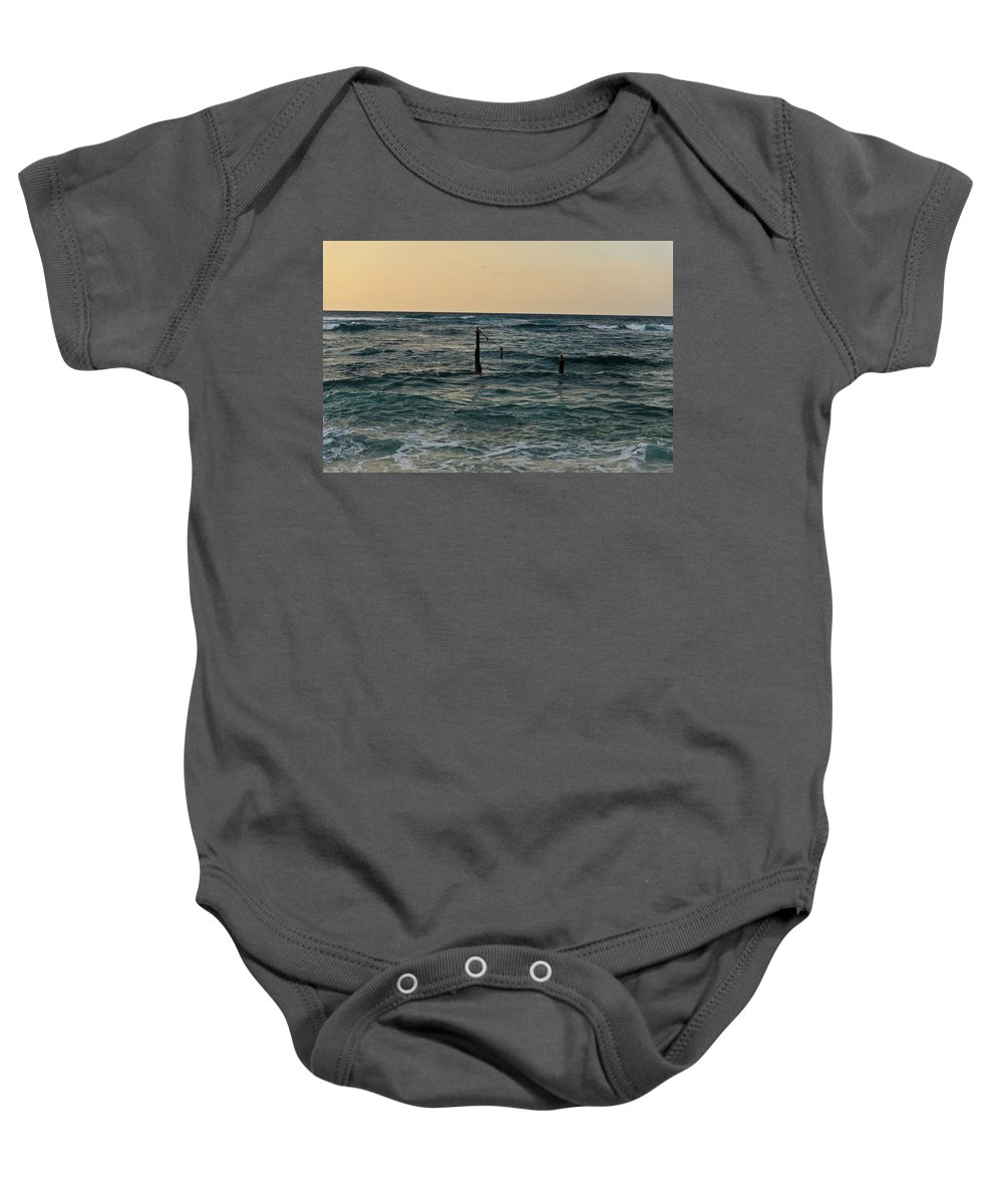 Mediterranean Baby Onesie featuring the photograph The Old Harbor by Michael Goyberg