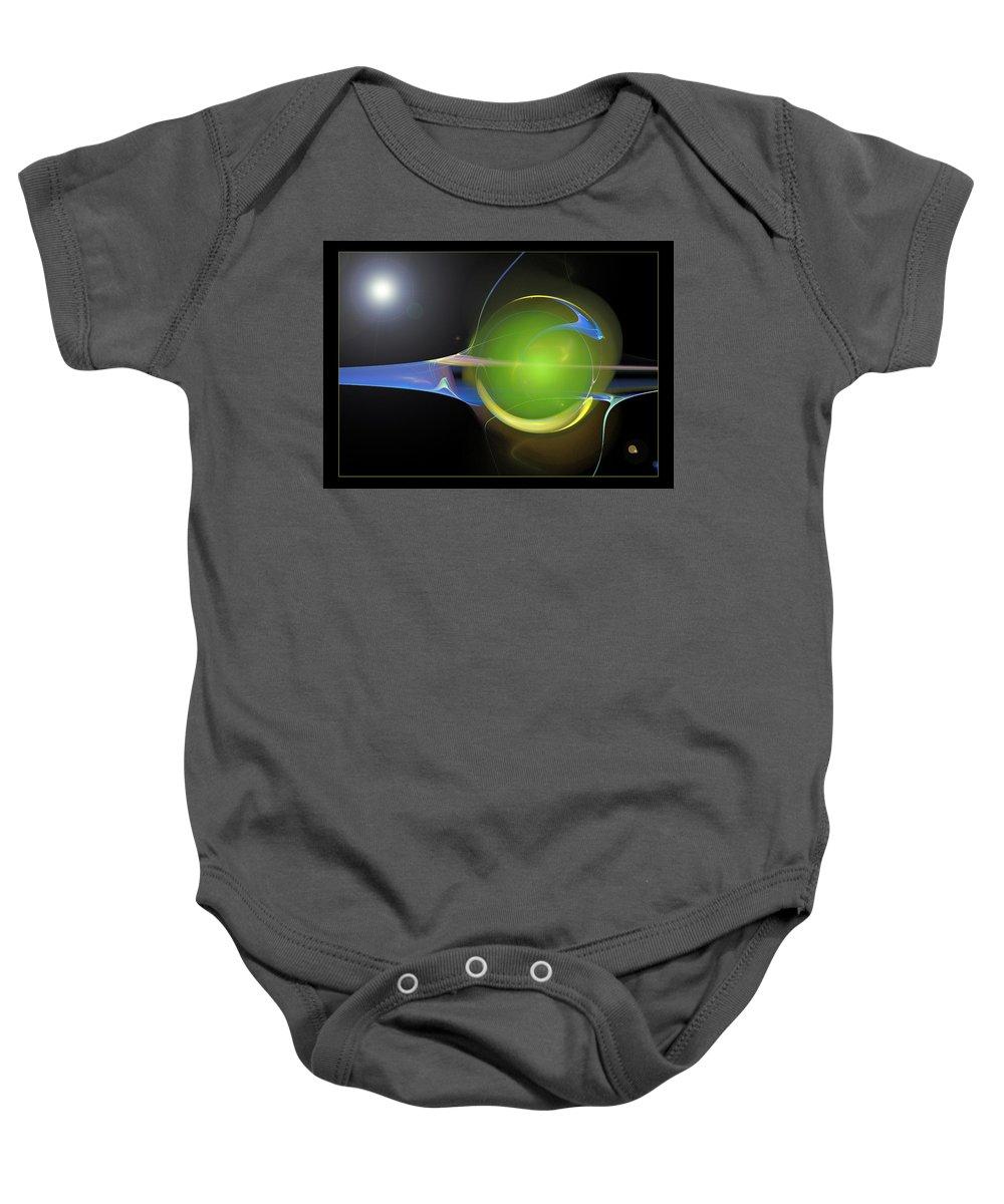 Orb Baby Onesie featuring the digital art The Orb by Ricky Barnard
