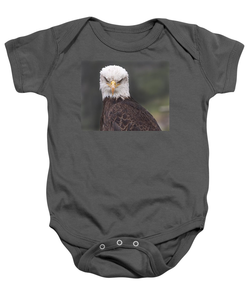 Stare Baby Onesie featuring the photograph The Stare by Eunice Gibb