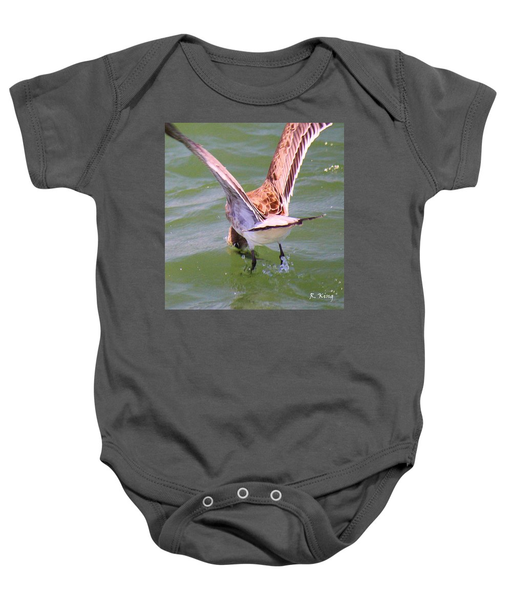 Roena King Baby Onesie featuring the photograph This Is How You Catch Them by Roena King