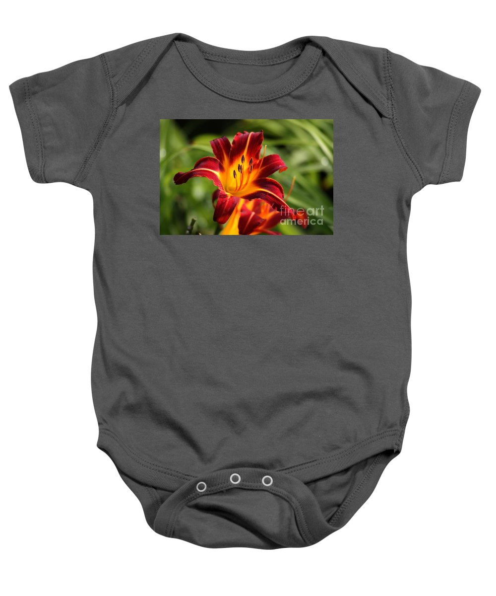 Tiger Lily Baby Onesie featuring the photograph Tiger Lily0272 by Gary Gingrich Galleries