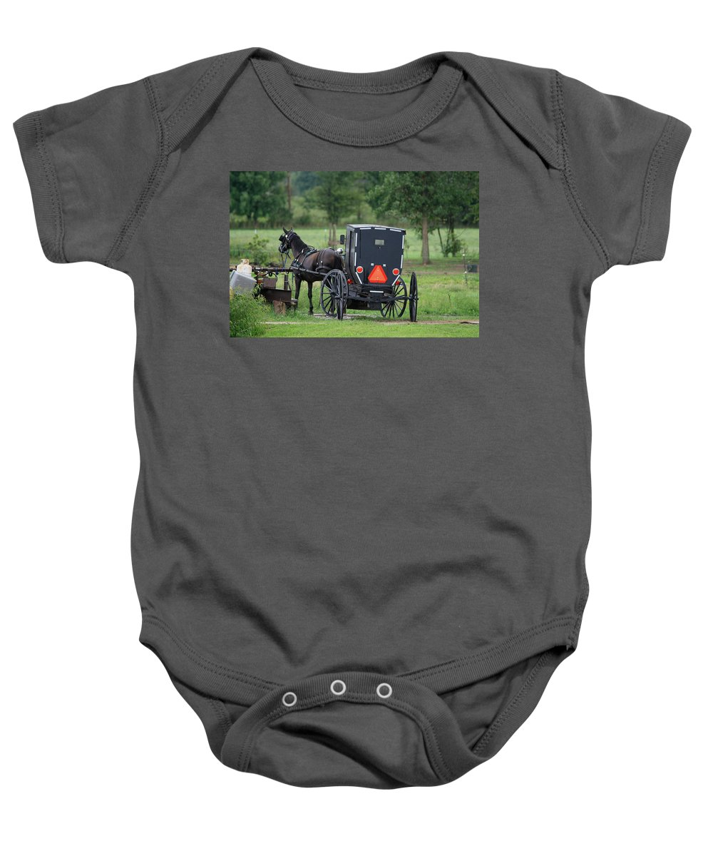 Digital Baby Onesie featuring the photograph Time To Go by Dennis Pintoski