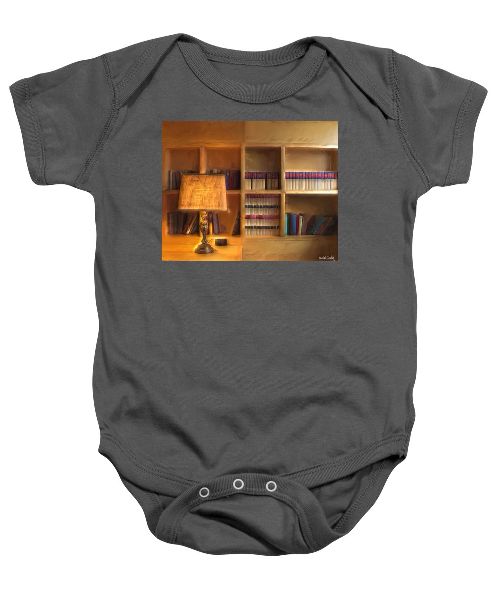 Top Pot Baby Onesie featuring the photograph Top Pot's Library by Heidi Smith