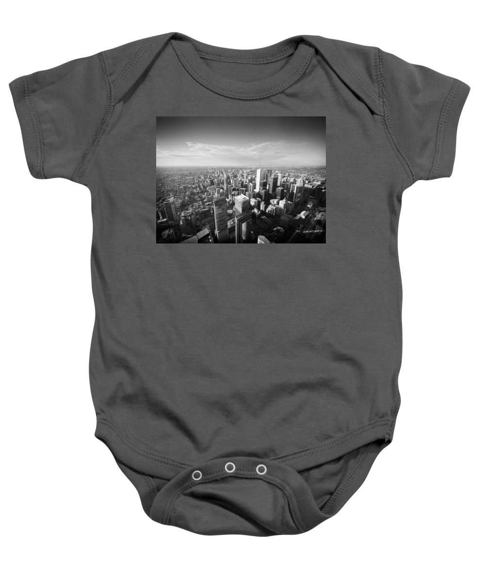 Toronto Baby Onesie featuring the photograph Toronto From Above by Alexander Voss