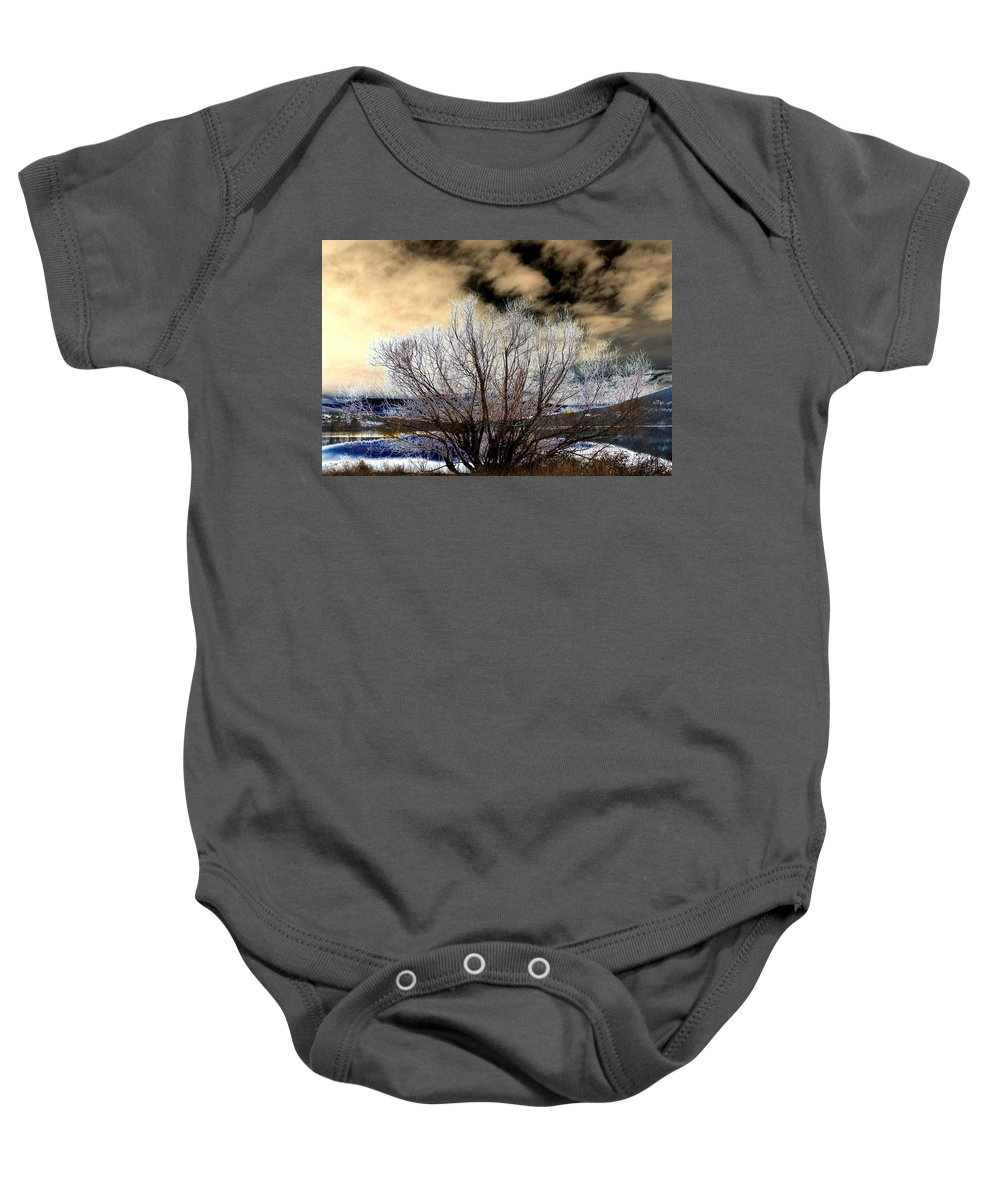 Touch Of Frost Baby Onesie featuring the digital art Touch Of Frost by Will Borden