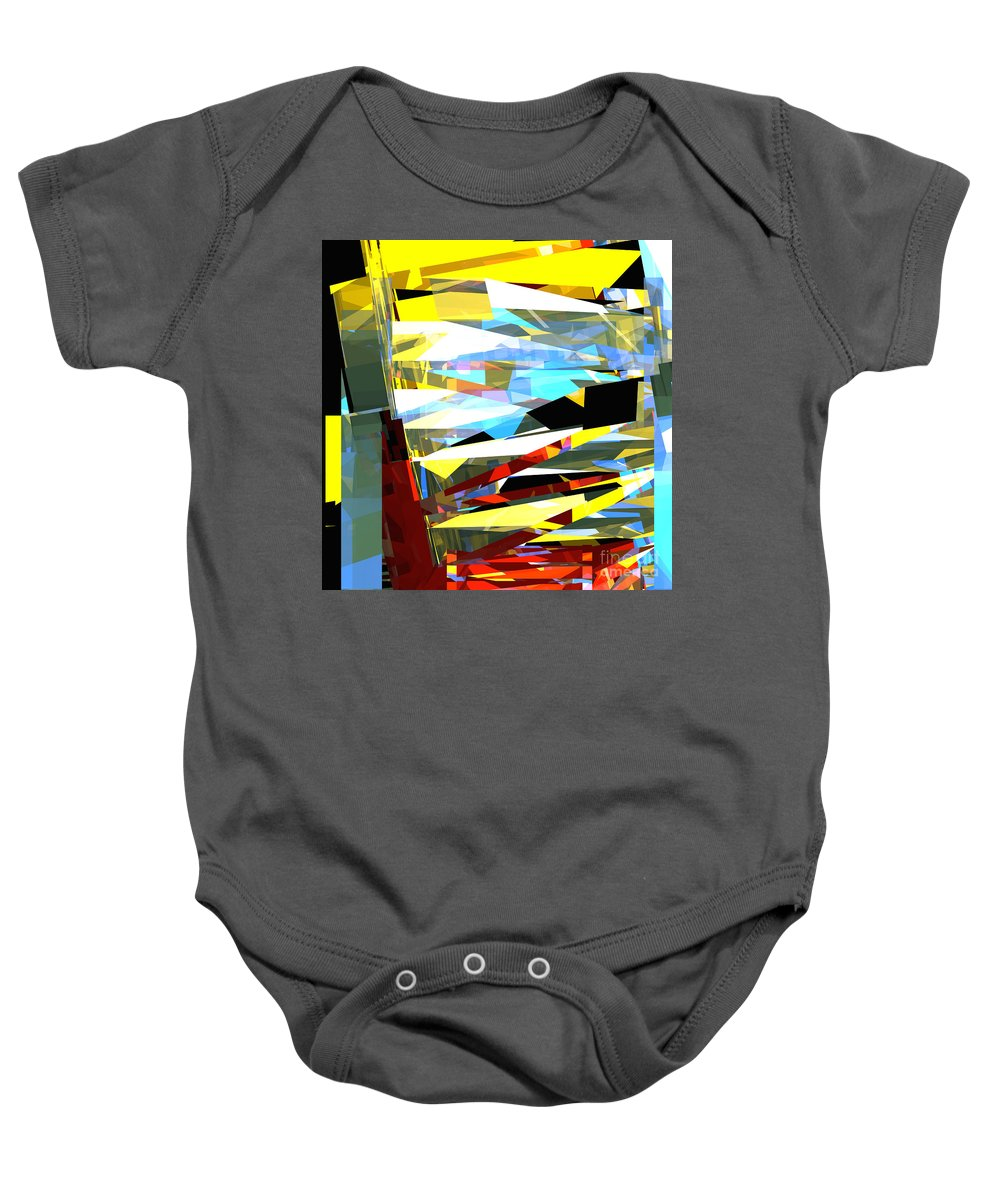 Abstract Baby Onesie featuring the digital art Tower Series 40 by Russell Kightley
