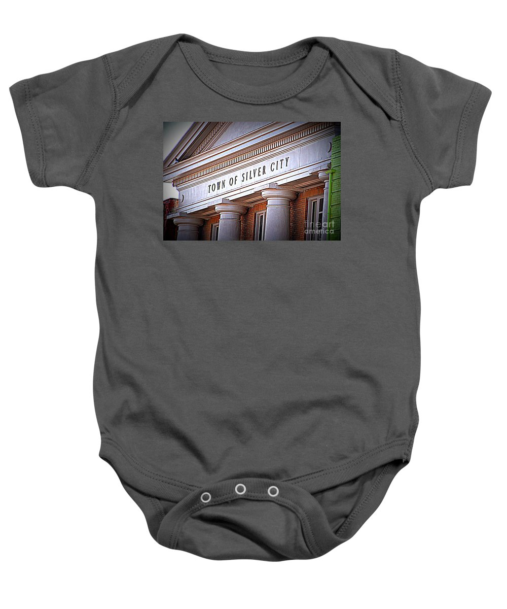 Town Of Silver City Baby Onesie featuring the photograph Town Of Silver City New Mexico by Susanne Van Hulst