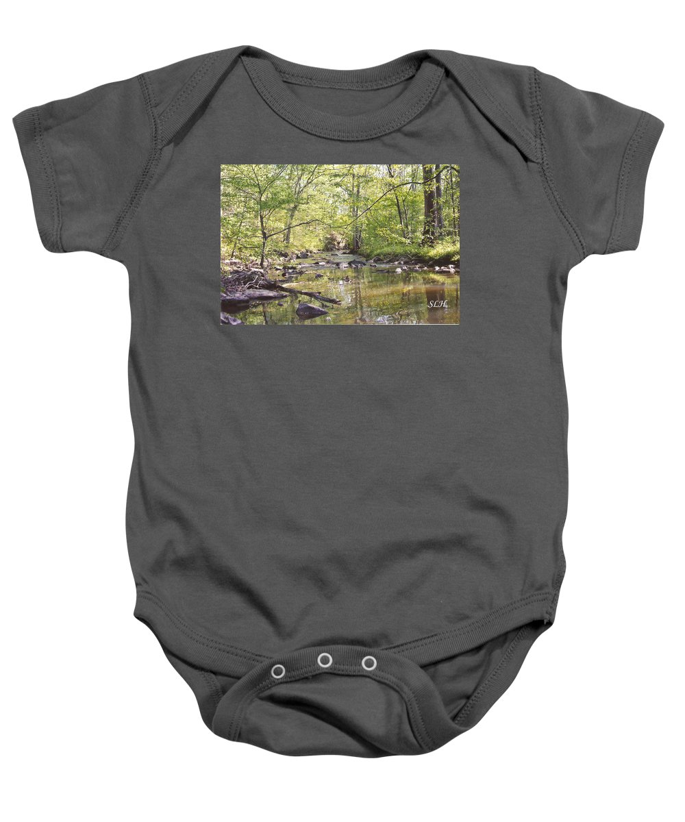 Trinity Foundry Baby Onesie featuring the photograph Trinity Foundry by Lee Hartsell