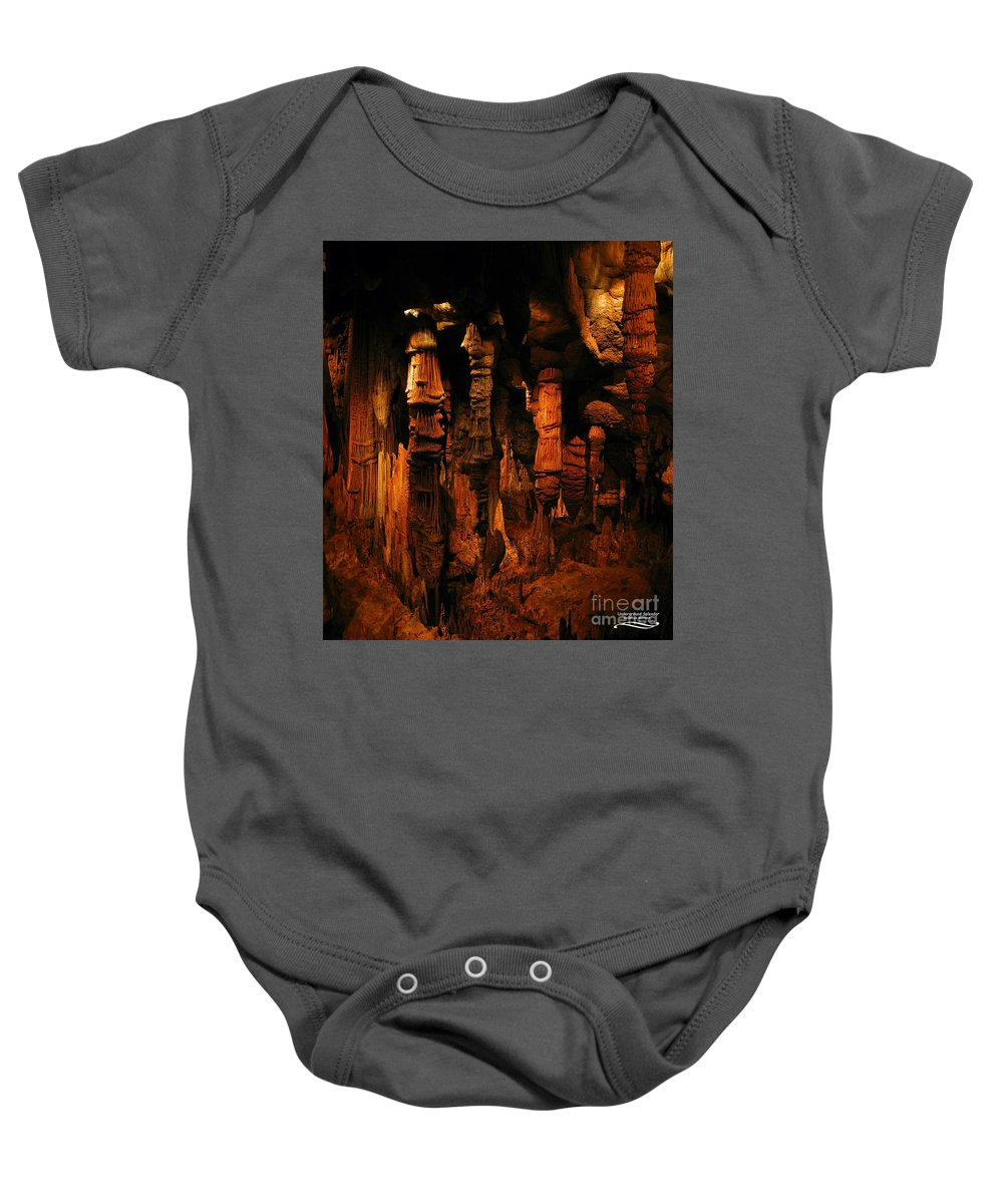Landscape Baby Onesie featuring the photograph Underground Splendor by Rebecca Morgan