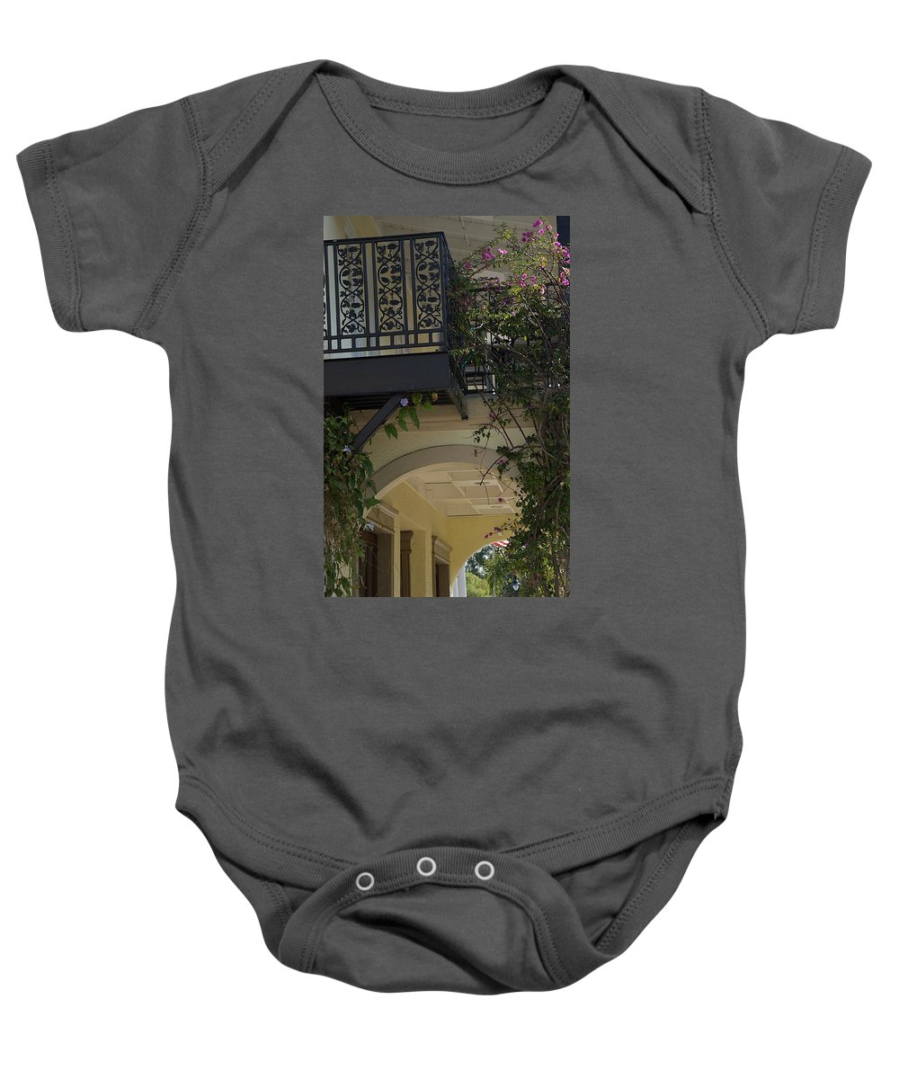 Balcony Baby Onesie featuring the photograph Up by Joseph Yarbrough