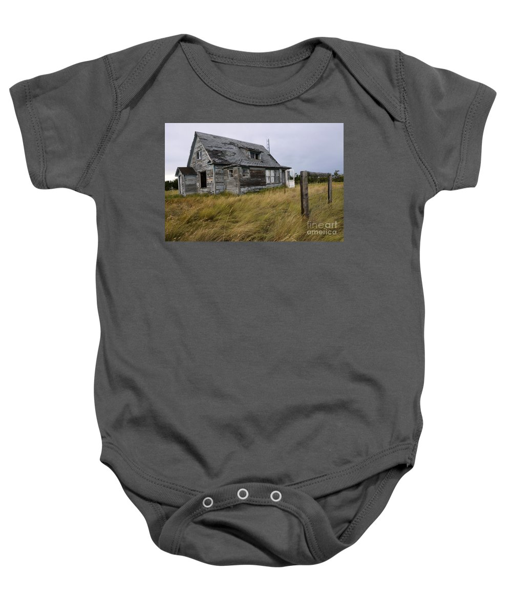 Kitchen Baby Onesie featuring the photograph Vacant House by Bob Christopher