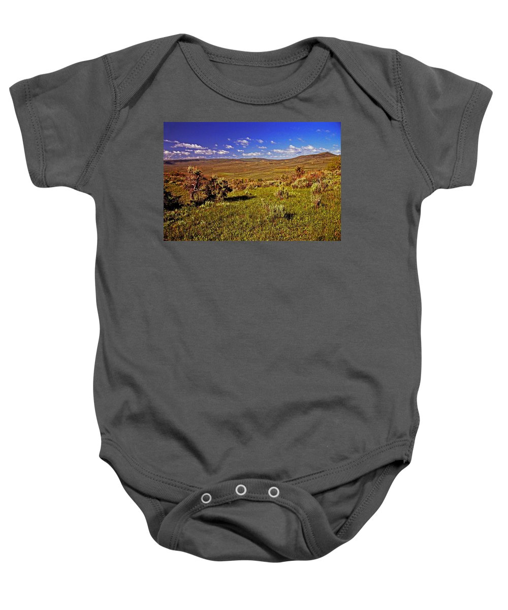 Wyoming Baby Onesie featuring the photograph Valley At Fossil Butte Nm by Rich Walter