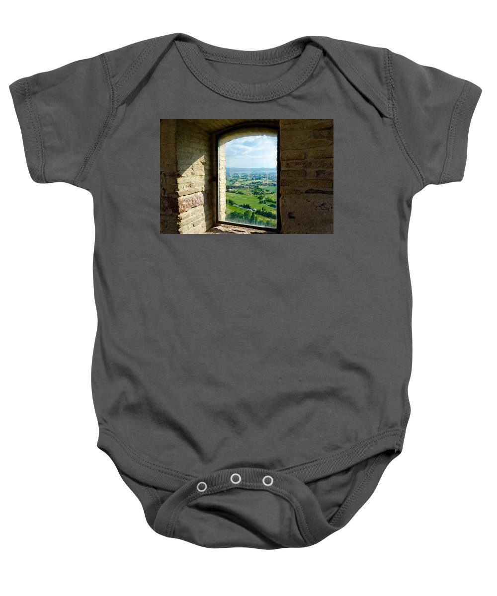 Valley Baby Onesie featuring the photograph Valley View by Jon Berghoff