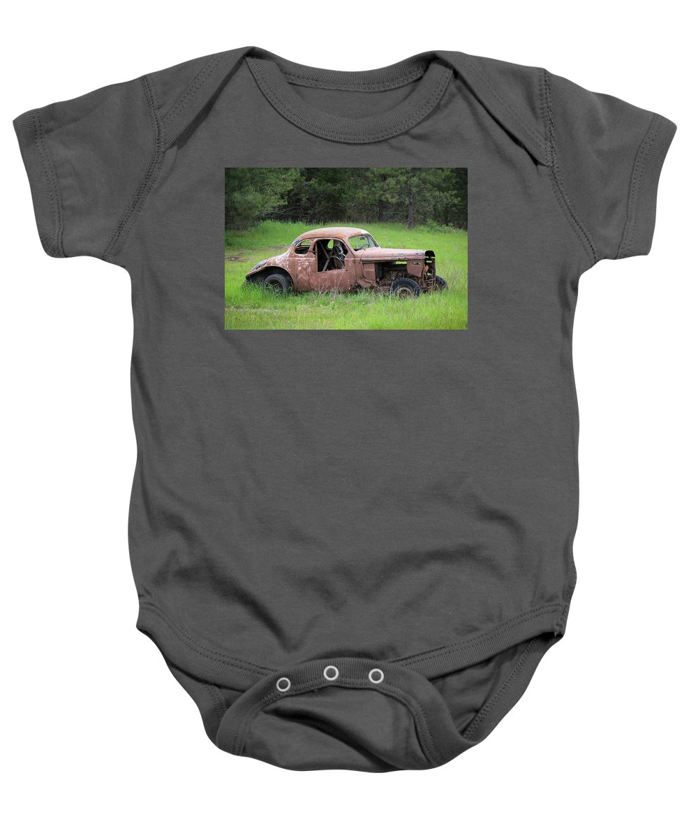 Vintage Baby Onesie featuring the photograph Vintage Racer by Steve McKinzie