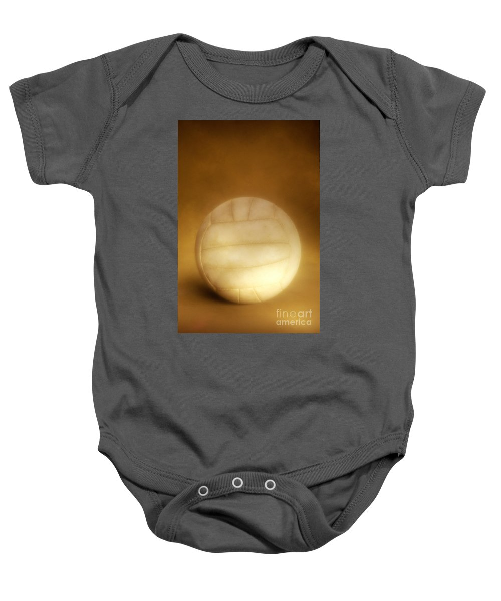 Compete Baby Onesie featuring the photograph Vintage Soccer Ball by John Greim