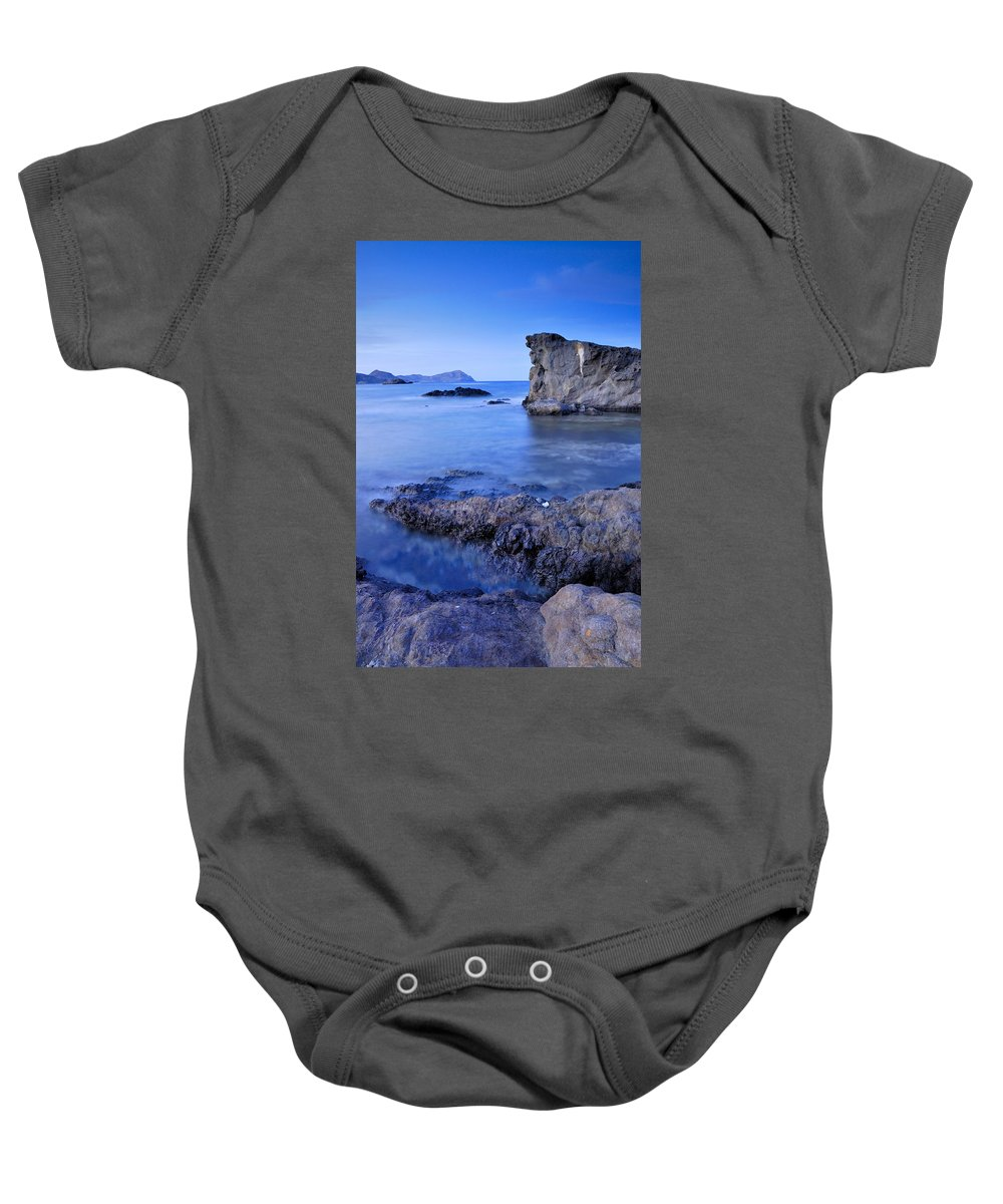 Seascape Baby Onesie featuring the photograph Volcanic Reef by Guido Montanes Castillo