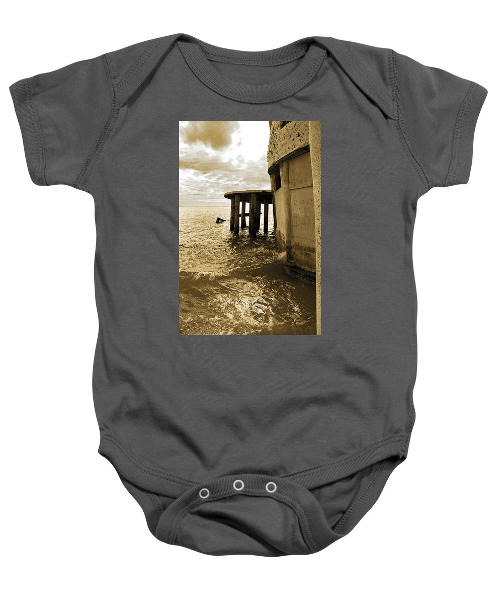 Bubble House Baby Onesie featuring the photograph Waiting by Christine Stonebridge