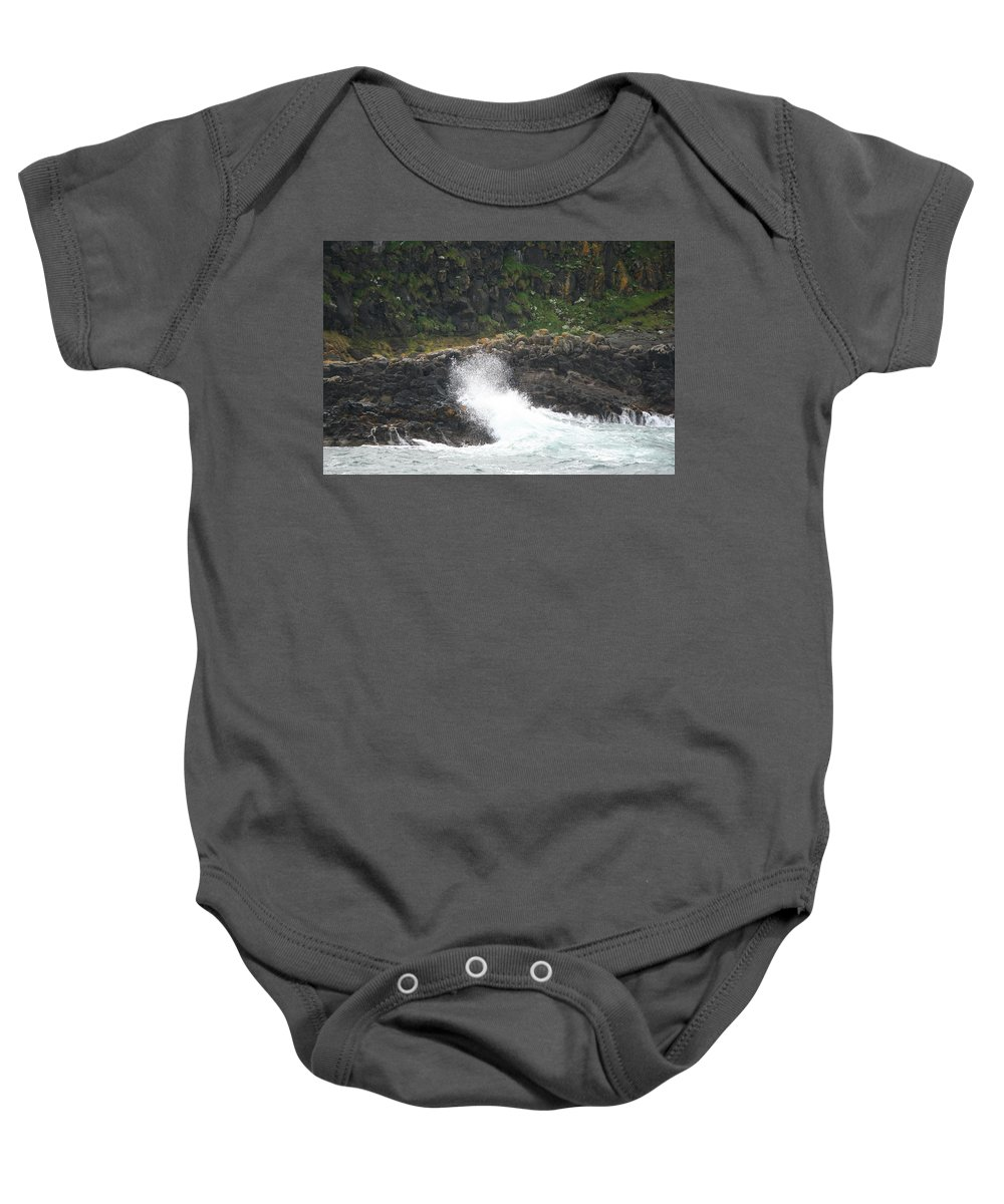 Wave Baby Onesie featuring the photograph Water 0001 by Carol Ann Thomas