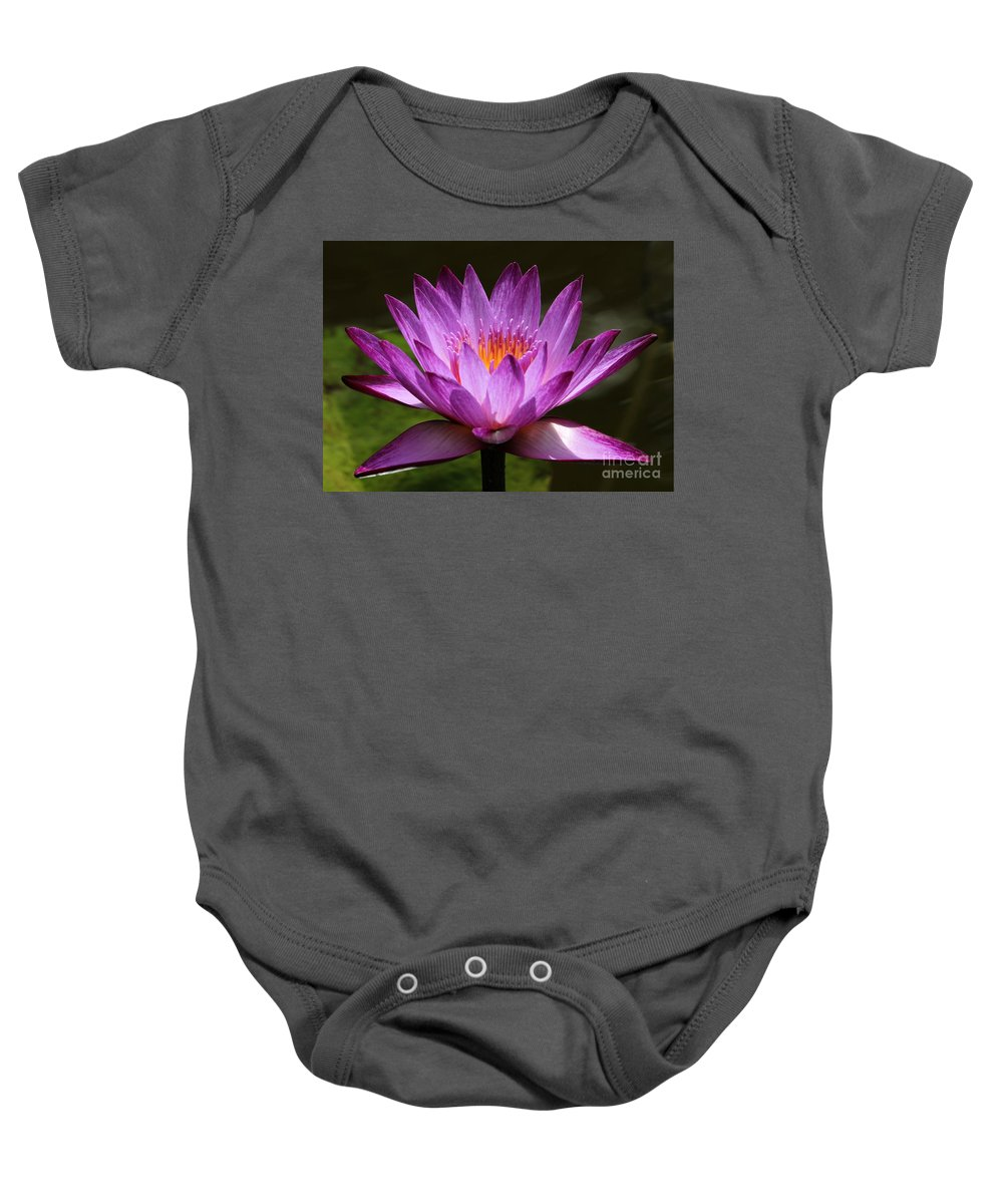Water Lily Baby Onesie featuring the photograph Water Lily Blossom by Sabrina L Ryan