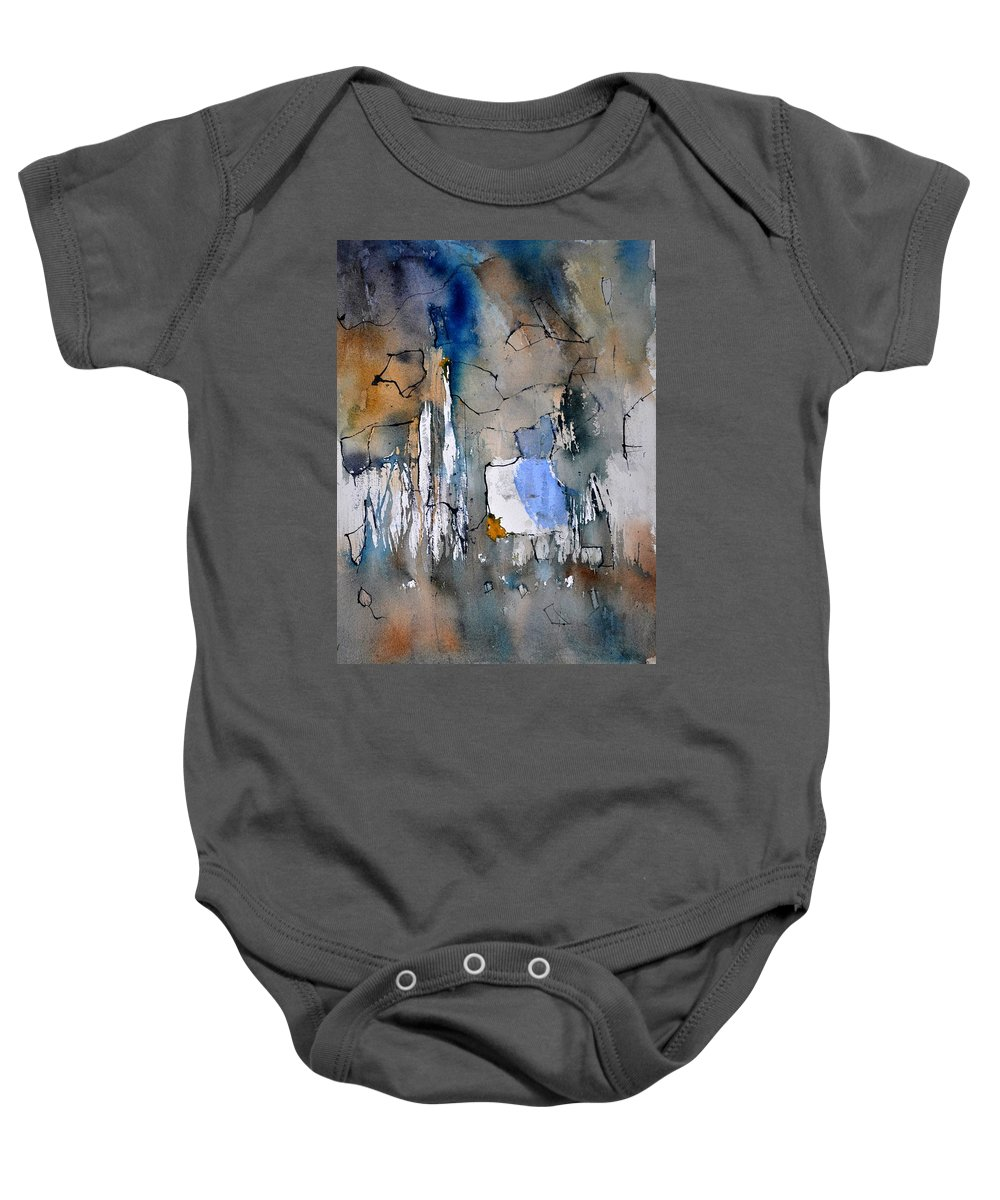 Abstract Baby Onesie featuring the painting Watercolor213030 by Pol Ledent
