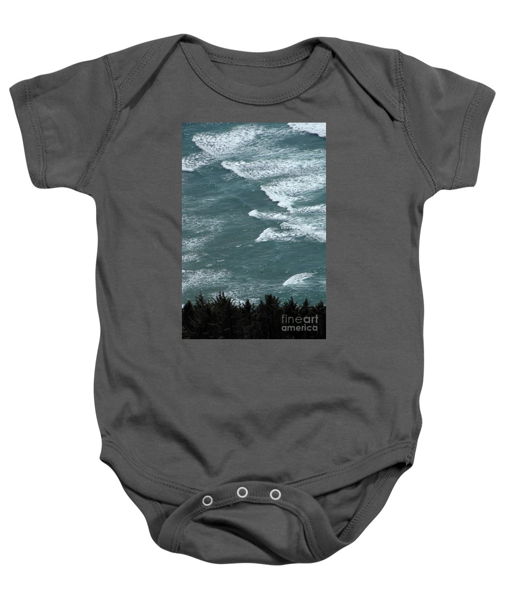 Waves Baby Onesie featuring the photograph Waves In The Sky by Mike Nellums